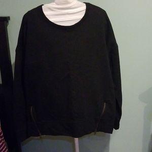 Athleta cityscapes black sweater Size l